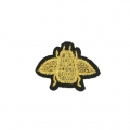 Badge to iron-on Bee 38x27 mm Black/Golden x1