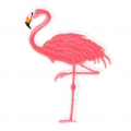 Badge to iron-on Pink Flamingo 90x70 mm White/Pink x1