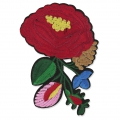 Badge to iron-on Exotical Flower 115x80 mm Multicolored x1