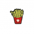 Badge to iron-on French Fries 44x40 mm Yellow/Red/Black x1
