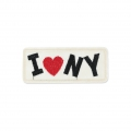 Badge to iron-on I love New York 90x38 mm Black/Red/Ivory x1