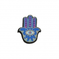 Badge to iron-on Fatma's Hand 59x48 mm Blue x1