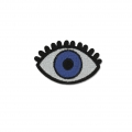 Badge to iron-on Lucky-charm Eye 58x38 mm White/Blue/Black x1