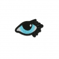 Badge to iron-on Lucky-charm Eye 53x33 mm White/Turquoise/Black x1