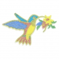Badge to iron-on Humming-Bird 90x58 mm Multicolored x1
