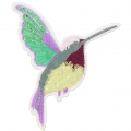 Sequins Badge to iron-on Humming Bird 190x180 mm Multicolored x1