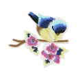 Badge to iron-on Tit Bird 100x85 mm Multicolored x1