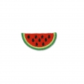 Badge to iron-on Watermelon 50x25 mm Red/Lemon Yellow/Green x1