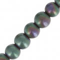 Hematite 4 mm Green/Purple Matt x20