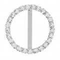 Rhinestones Spacer for 18 mm lace to create chokers 24 mm Crystal/Silver x1