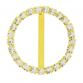 Rhinestones Spacer for 18 mm lace to create chokers 24 mm Crystal/Golden x1