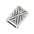 Magnetic Clasp Chevron Pattern 20x14 mm for 10 mm Lace Antique Silver x1