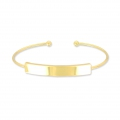 Jonc Bracelet Eco with a plate to customize 42x7 mm Golden x1