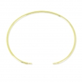 Oval Jonc Bracelet with 2 rings 15.5cm Sterling Silver 925 Gold Tone