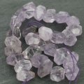 Irregular nugget bead drilled 12-25 mm Amethyst x1