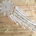 Nude metal circle for Dreamcatcher,  Suspension and Lamps  28cm white