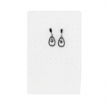 Earring support  15.5x10 cm in rigid palstic x1
