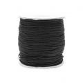 Braided nylon thread 1.3mm Black in bobbin x120 m