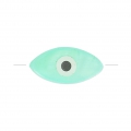 Eye bead - Evil eye - MOP 15 mm water green x1