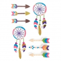 Sheet of 8 3D stickers 85 mm Idian dreamcatcher
