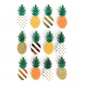 Sheet of 12 3D stickers 45 mm Pineapple