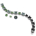 Bracelet with settings for cabochons Swarovski 1028/1088 6-8 mm old silver tone x1