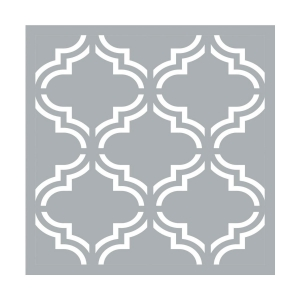 Decorative stencil medium size 45.7x45.7 cm Moroccan tiles x1