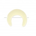 Half Moon imitation horn 2 holes 15 mm Ivory x1