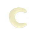 Half Moon imitation horn 1 hole 15 mm Ivory x1