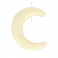 Half Moon imitation horn 1 hole 30 mm Ivory x1