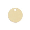 Round Medal 7 mm Gold filled 14 carats x1
