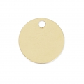 Round Medal 9 mm Gold filled 14 carats x1