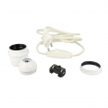 Kit sleeve E27 and 2 m electric thread for the creation of lamp white