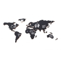 World map adhesive slate Luckies London 100x46 cm The Chalkboard Map