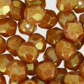 Fire Polished faceted round beads 5mm Opaque Luster Rose x50