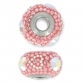 Swarovski 84372 BeCharmed Pavé 15 mm Crystal AB/Light Rose x1
