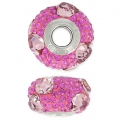 Swarovski 81722 BeCharmed Pavé 15mm Crystal Antique Pink/Fuchsia x1