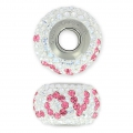 Swarovski Love 81732 BeCharmed Pavé 15mm Crystal Moonlight/Rose x1