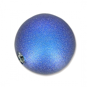 Swarovski Half-drilled Pearl 5818 6mm Iridescent Dark Blue Pearl