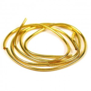 French Wire (cannetille or bouillon) 1 mm Gold plated x 45 cm