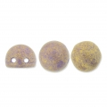 Glass beads Czechmates Cabochons 2 holes 6 mm Fig Pacifica x5g