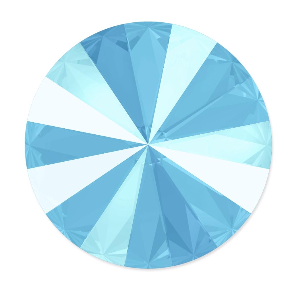 2e5ad215e Swarovski 1122 Rivoli Round Stone 12mm Crystal Summer Blue x1 - Perles & Co