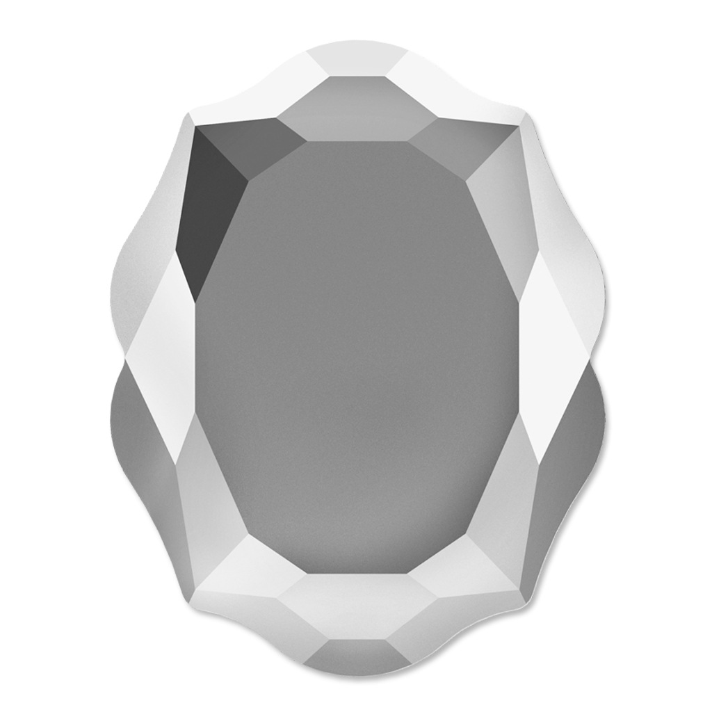 Wilko baroque mirror silver 87x62cm -  Fancy Stone Swarovski 4142 Baroque Mirror 14x11 Mm Crystal Light C
