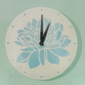 Clock to decorate and personalize round made of wood 30 cm white