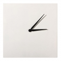 Clock to decorate and personalize square made of wood 30 cm white