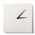 Clock to decorate and personalize square made of wood 20 cm white
