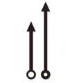 Needel for your clock to decorate arrows 6 and 8 cm Black