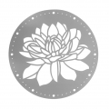 Decorative stencil round shape  28 cm Lotus x1