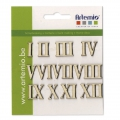 Set with  12 roman numbers for decoration  made of wood 15 mm Natural