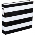 Album Project Life de Becky Higgins 30.5x30.5 cm Stripes black and white